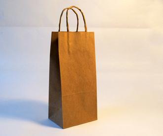 Bolsa de papel con manija V