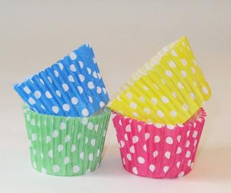 pirotin para cupcake a lunares varios colores