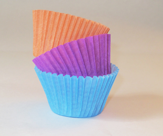 pirotin para cupcakes lisos varios colores