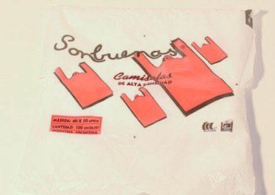 bolsas camiseta alta densidad 40x50 x100u