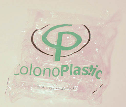 Cucharas de plástico transparentes