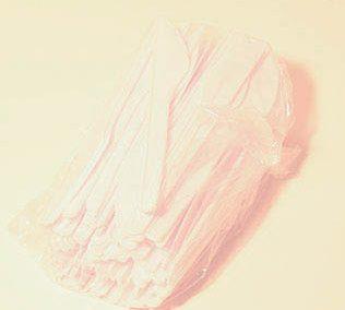 Cuchillos de plástico blanco