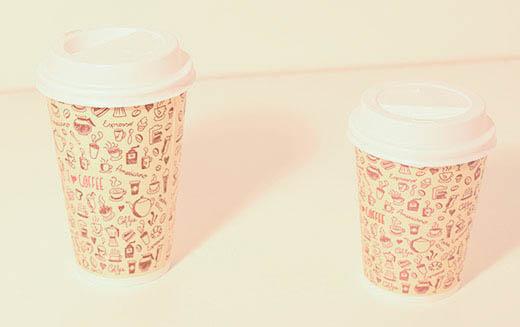 Vaso cafe 8 y 12 onzas con tapa x100